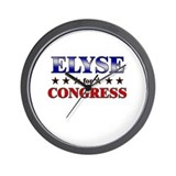ELYSE for congress Wall Clock