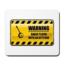 Warning Banjo Player Mousepad