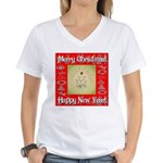 Glorious Christmas Tree Women's V-Neck T-Shirt
