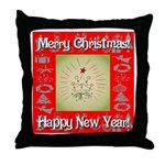 Glorious Christmas Tree Throw Pillow