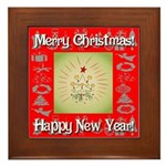 Glorious Christmas Tree Framed Tile