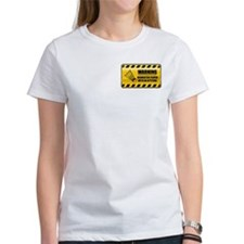 Warning Badminton Player Tee