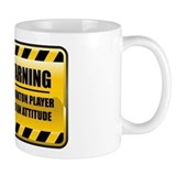 Warning Badminton Player Tasse