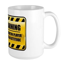 Warning Badminton Player Mug