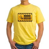 Warning Badminton Player Tee-Shirt