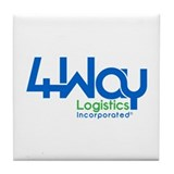 Cute Logistics Tile Coaster