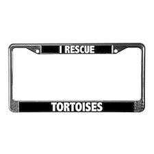 I Rescue Tortoises License Plate Frame