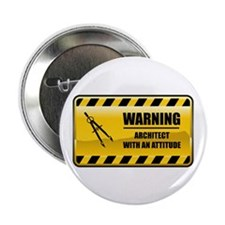 "Warning Architect 2.25"" Button (10 pack)"