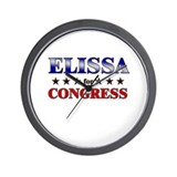 ELISSA for congress Wall Clock