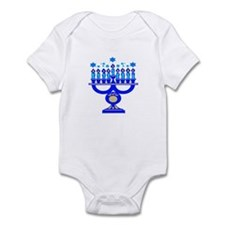 Blue Menorah  Infant Bodysuit