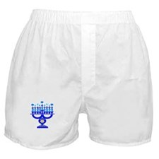 Blue Menorah  Boxer Shorts