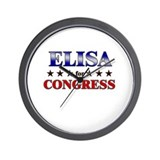 ELISA for congress Wall Clock