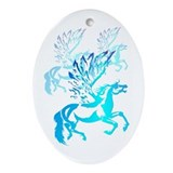 Simple Pegasus 2 Oval Ornament