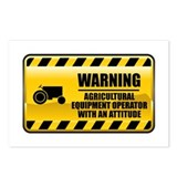 Warning Agricultural Equipment Operator Postcards