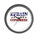 EFRAIN for congress Wall Clock
