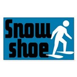 Snowshoe Rectangle Decal