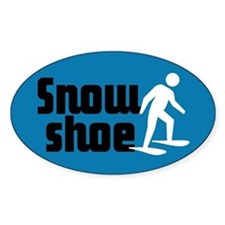 Snowshoe Oval Decal