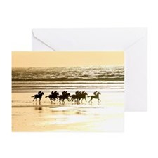 Unique Race horses Greeting Cards (Pk of 10)