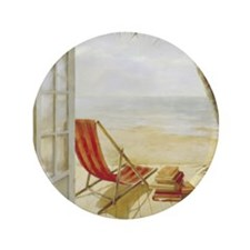 "Relaxing on the Beach 3.5"" Button (100 pack)"