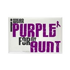 I Wear Purple For My Aunt 6 (PC) Rectangle Magnet
