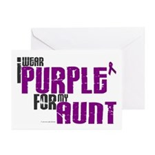 I Wear Purple For My Aunt 6 (PC) Greeting Cards (P