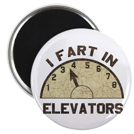 I Fart In Elevators Magnet