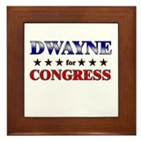 DWAYNE for congress Framed Tile