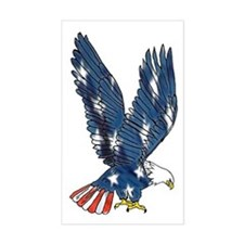 Stars Eagle Rectangle Decal