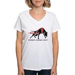 Pit Bull Weight Pull Women's V-Neck T-Shirt