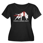 Pit Bull Weight Pull Women's Plus Size Scoop Neck