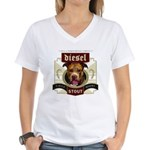 Diesel Pit Bull Stout Women's V-Neck T-Shirt