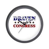 DRAVEN for congress Wall Clock