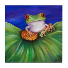 Red Eyed Tree Frog Tile Coaster