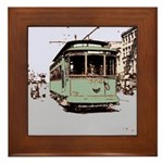 New Orleans Streetcar Framed Tile