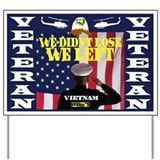 1967 CUSTOM YEARS VETERAN YARD SIG Yard Sign