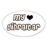 my heart Gibraltar Oval Decal