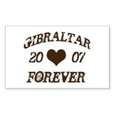 Gibraltar Forever Rectangle Decal