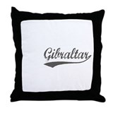 Gibraltar flanger Throw Pillow