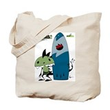 KID FIN surfin' Tote Bag