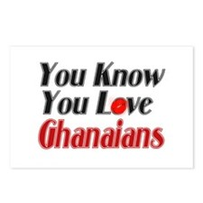 you know you love Ghanians Postcards (Package of 8