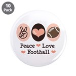 Pink Brown Peace Love Football 3.5