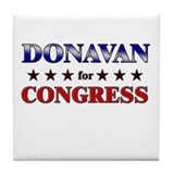 DONAVAN for congress Tile Coaster
