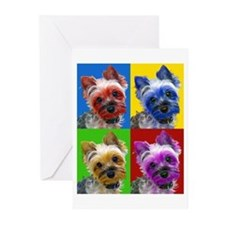 Pop Art Yorkie Greeting Cards (Pk of 10)