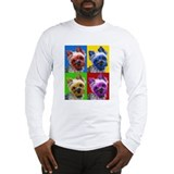 Pop Art Yorkie Long Sleeve T-Shirt