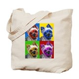Pop Art Yorkie Tote Bag