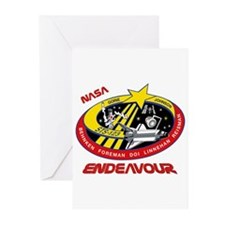 STS 123 Endeavour NASA Greeting Cards (Pk of 10)