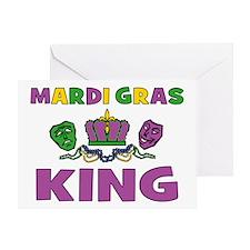 Mardi Gras King Greeting Card