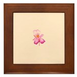 Framed Ceramic Flower Tile