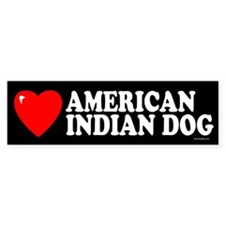 AMERICAN INDIAN DOG Bumper Bumper Sticker