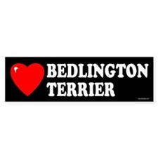 BEDLINGTON TERRIER Bumper Car Sticker